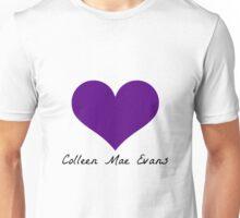 Colleen Mae Evans' Purple Heart  Unisex T-Shirt