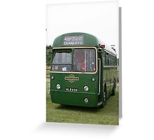 London Transport green country bus Greeting Card