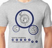 Galactic Coordinates from Galactic Zero Centre Unisex T-Shirt