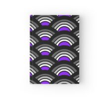 Black, Grey, and Purple Scallop Hardcover Journal