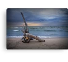Sunrise on the beach at Oscoda Michigan on Lake Huron Canvas Print