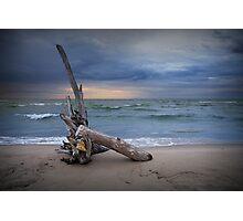 Sunrise on the beach at Oscoda Michigan on Lake Huron Photographic Print