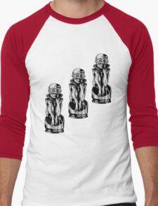 Giger's Birth Machine Baby Trio Men's Baseball ¾ T-Shirt
