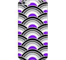 Black, Grey, and Purple Scallop V2 iPhone Case/Skin