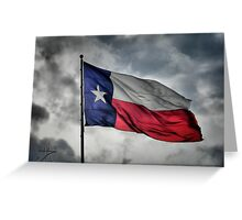 Texas Flying in the Wind Greeting Card