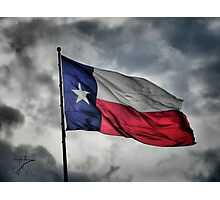 Texas Flying in the Wind Photographic Print
