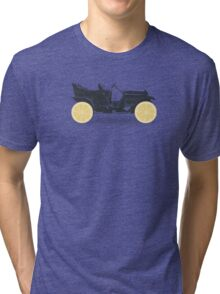 Oldtimer / Historic Car with lemon wheels Tri-blend T-Shirt