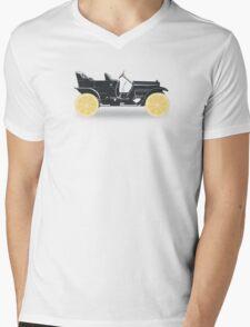 Oldtimer / Historic Car with lemon wheels Mens V-Neck T-Shirt