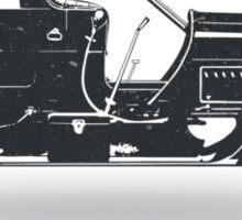 Oldtimer / Historic Car with lemon wheels Sticker