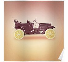 Oldtimer / Historic Car with lemon wheels Poster