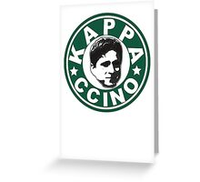 Kappaccino Greeting Card