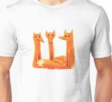 Three friendly foxes Unisex T-Shirt