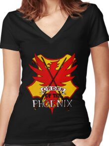 Order of the Phoenix Women's Fitted V-Neck T-Shirt