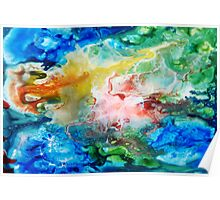 Unique colorful galaxy abstract art Poster