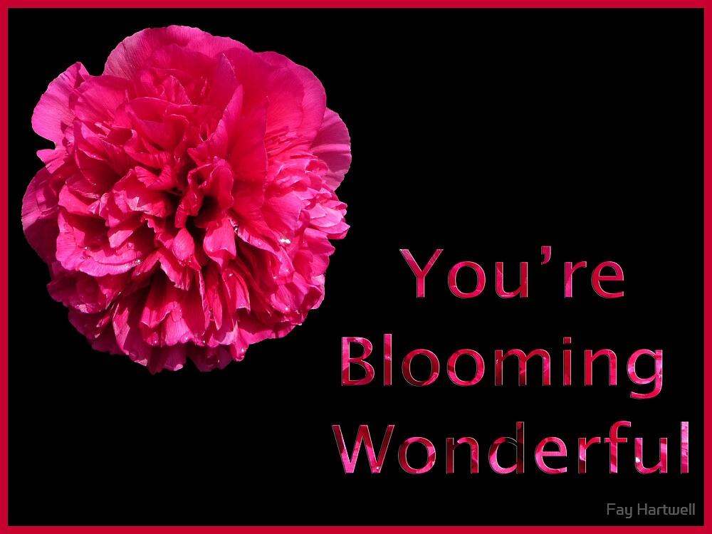 You're Blooming Wonderful by Fay Hartwell