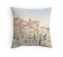 View of Gordes, Provence, France Throw Pillow