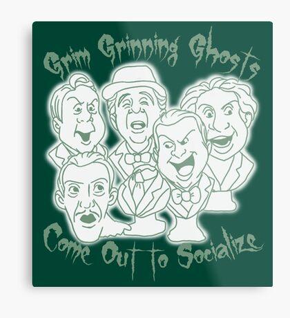 Grim Grinning Ghosts Metal Print
