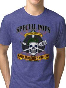 #1 DAD SPECIAL POPS Tri-blend T-Shirt