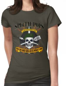 #1 DAD SPECIAL POPS Womens Fitted T-Shirt