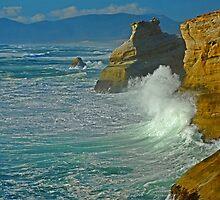 Wave Action At Cape Kiwanda by Nick Boren