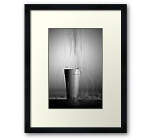 Styrofoam Cup Motion Blur Framed Print