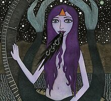Melusine with Galactic Nessie by Bethy Williams