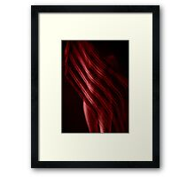 Scarf with Stripes in Red Framed Print
