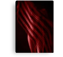 Scarf with Stripes in Red Canvas Print
