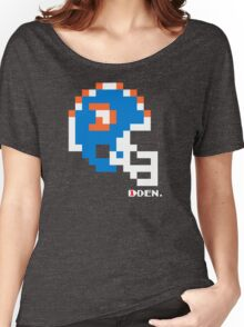 Tecmo Bowl - Denver Broncos - 8-bit - Mini Helmet shirt Women's Relaxed Fit T-Shirt