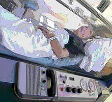 Inspired Art; Industrial Disease; True Victim! Patient in Hyperbaric Chamber by leih2008