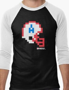 Tecmo Bowl - Houston Oilers - 8-bit - Mini Helmet shirt Men's Baseball ¾ T-Shirt