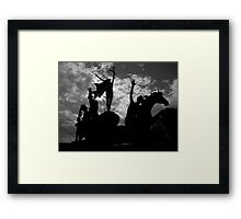 Silhouettes in Old San Juan - Puerto Rico Framed Print