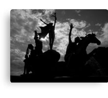 Silhouettes in Old San Juan - Puerto Rico Canvas Print