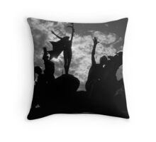Silhouettes in Old San Juan - Puerto Rico Throw Pillow