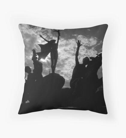 Silhouettes in Old San Juan - Puerto Rico Throw Pillow