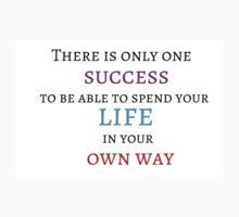 There is only one success - to be able to spend your life in your own way by IdeasForArtists