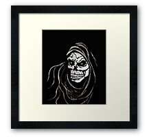 Grim Death reaper Halloween death horror day Framed Print