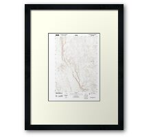 USGS Topo Map Oregon Red Lookout Butte 20110818 TM Framed Print