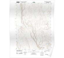 USGS Topo Map Oregon Red Lookout Butte 20110818 TM Poster