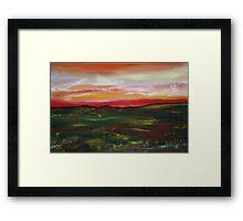 Prairie Daybreak in Spring Framed Print
