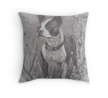 """Lady"" in charcoal Throw Pillow"
