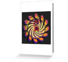Swirly Go Go Greeting Card