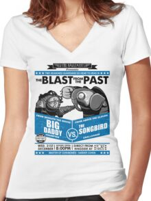 The Blast from the Past - Big Daddy vs Songbird Women's Fitted V-Neck T-Shirt