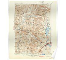 USGS Topo Map Oregon Waldo Lake 283279 1925 125000 Poster