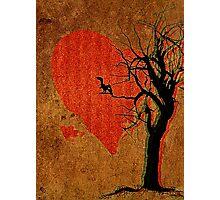 Heart, Tree, Raven Photographic Print
