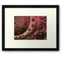 Interplanetary - Oil v Water Framed Print