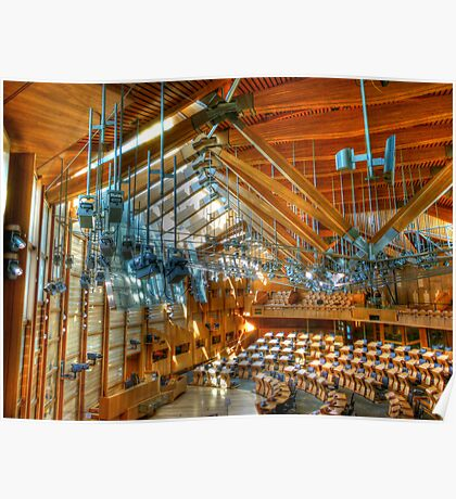 Scottish Parliament Debating Chamber Poster