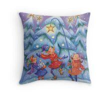 Elf Celebration Throw Pillow