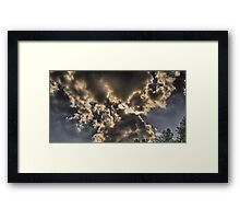 Bow Tie Clouds Framed Print