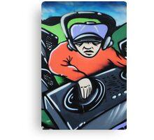 Graffiti artwork in Birstall Canvas Print